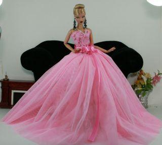 Fashion Royalty Outfit Barbie Toy Dolls Wedding Bride Dress