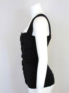 11 1 DOLCE & GABBANA at SOCIALITE AUCTIONS Black Knit Bustier Top Sz