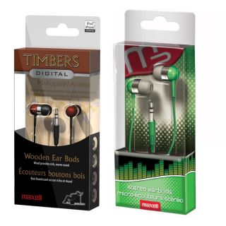Maxell Digital Noise Reductio Dynamic in Ear Earbuds 2 Colors