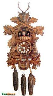 Dold MT82 Live Animal Hunter 1 Day German Cuckoo Clock