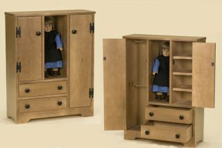 Doll Closet American Girl Size Furniture Wardrobe 18