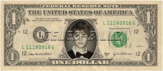 Justin Bieber Dollar Bill V5 Celebrity Novelty Collectible Money Mint