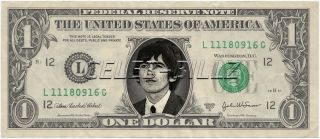 George Harrison The Beatles Dollar Bill Real $ Celebrity Novelty