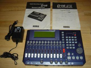 KORG D16 DIGITAL RECORDING STUDIO MINT W/YAMAHA CD BURNER EXCELLENT
