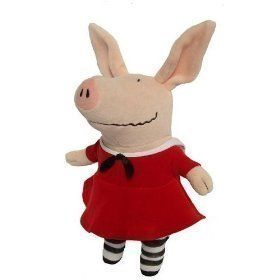 Olivia The Pig in Red Dress 11 Plush Doll Toy