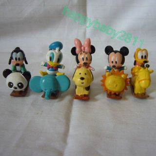 5pcs Mickey Minnie Mouse Goofy Donald Mini Figures