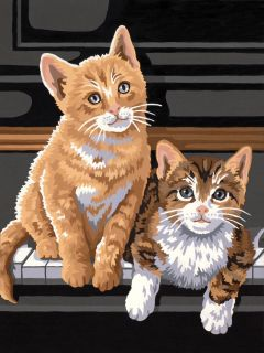 New DIMENSIONS Paintworks Paint by Number Kit 9 x 12 Keyboard Kittens