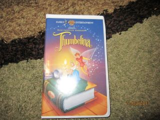 THUMBELINA VHS DON BLUTH HANS CHRISTIAN ANDERSEN FAMILY ANIMATION
