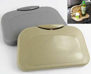 Foldable Car Auto Food Meal Drink Tray Desk Dining Table Water Cup