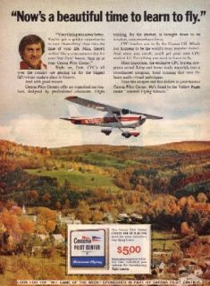 Don Meredith Vintage Orig Mag Ad NFL Dallas Cowboys Cessna Pilot
