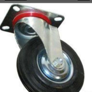 Inch Swivel Casters Heavy Duty Hard Rubber Wheels