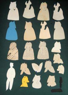 PAPERDOLL w Clothies Handmade Handdrawn Doll Will H Sherwood★