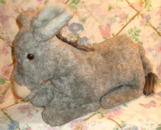 COUNTRY CRITTERS PLUSH FULL BODY GRAY DONKEY PUPPET REALISTIC MINT