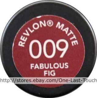 REVLON MATTE Lipstick #009 FABULOUS FIG Lip Color DISCONTINUED Dark