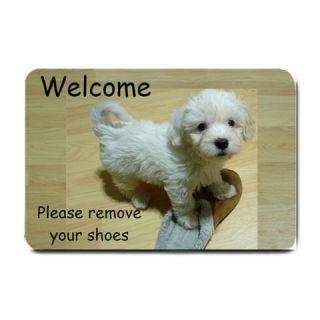Please Remove Shoes Front Door Mat Doormat Welcome Maltese Maltipoo