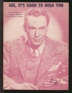 Gee Its Good to Hold You 1945 Woody Herman Sheet Music