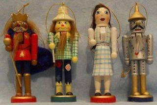 Wizard of oz Wooden Christmas Nutcracker Ornament Set
