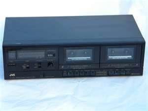 JVC DUAL CASSETTE DECK MODEL TD W106