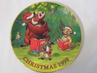 1998 Groiler DISNEY Christmas collector PLATE ~ THE LION KING Simba