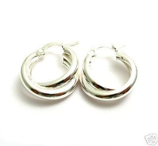 Sterling Silver Double Twist Hoop Earrings A9032