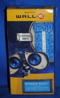 Disney Pixar Wall E Robot Window Panels Curtains New
