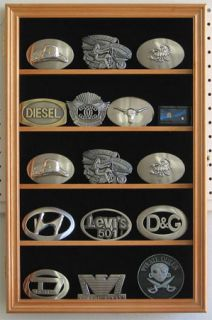 Belt Buckle Display Case Cabinet for Navy Buckles More