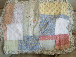 Patchwork Whispering Springs Full Double Quilt Sheets Farmhouse