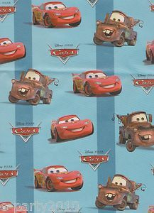 Disney Pixar Cars Gift Wrap Birthday Party Supplies Wrapping Paper