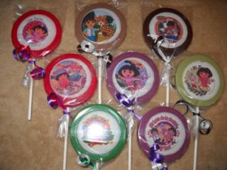 "Approved ""Dora, Diego, & Boots"" Edible Decal Lollipop/Favor"