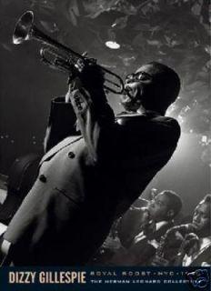 Dizzy Gillespie Jazz Music Poster Playing Trumpet Print