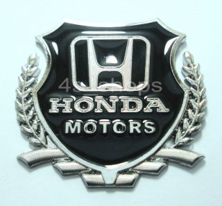 Metal Motors Logo Car Badge Emblem Decal Sticker Fit For Honda Car