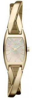 DKNY NY8680 Essentials Crossover Gold Bangle Ladies Watch NWT