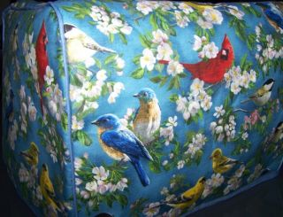 Song Birds Quilted Fabric Cover for 4 Slice Toaster