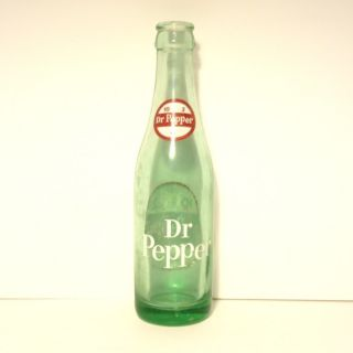 DR PEPPER OLD VINTAGE ACL SODA 6 1 2 OZ OUNCE 10 2 4 BOTTLE GREEN