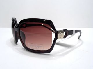 Jessica Simpson Sunglass Black Gold Rectangle Logo J464
