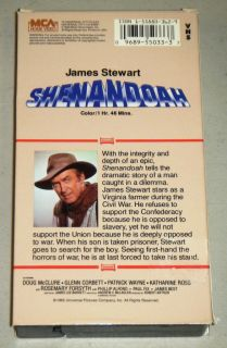 VHS Movie MCA 1965 James Stewart Doug McClure Glenn Corbett