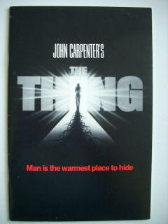 John Campbell John Carpenter  THE THING 1982 Film Handout Who Goes