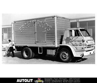 1967 Dodge L600 L700 Truck Factory Photo Frigid Foods Ohio