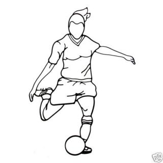 Female SOCCER PLAYER WALL DECOR Wrought Iron Art Girl Sports NEW