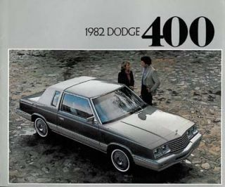 1982 Dodge 400 Convertible Sales Brochure Book Catalog