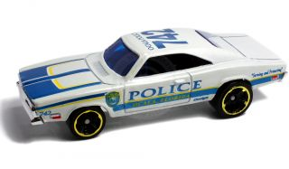 1969 Dodge Charger Ocala Florida Police 1 64 Scale Replica Hot Wheels