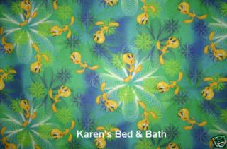 Tweety Bird Green Blue Swirl Custom Curtain Valance New