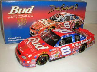 2000 DALE EARNHARDT JR. NASCAR 1/24 BUDWEISER US OLYMPIC TEAM DIECAST