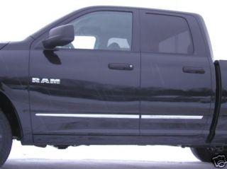 Dodge RAM Quad Cab Lower Chrome Accent Body Side Mouldings Trim 2009