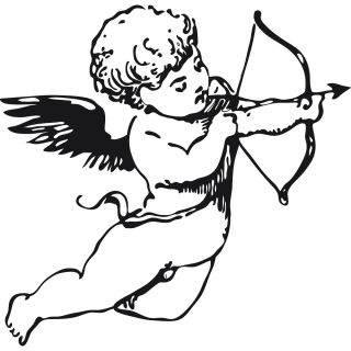 Cherub Angel Bow and Arrow Wall Sticker Wall Art Decal Transfers