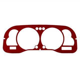 dodge ram 99 01 red anodized dashboard instrument panel cluster gauge