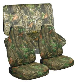 DODGE RAM 40 20 40 CAR SEAT COVERS IN CAMO TREE FRONT AND REAR OR