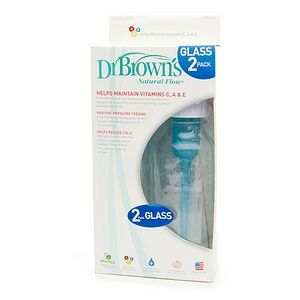 dr brown s natural flow standard glass bottles 2 ea glass bottles bpa