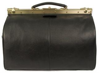Dr. Koffer Nabokov 18 Karelia Leather Duffel, Travel Bag   Black