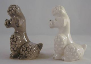 or Couple of Goebel w Germany Poodle Porcelain Dog Figurines
